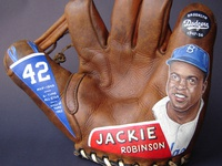 Painted Glove featuring Jackie Robinson