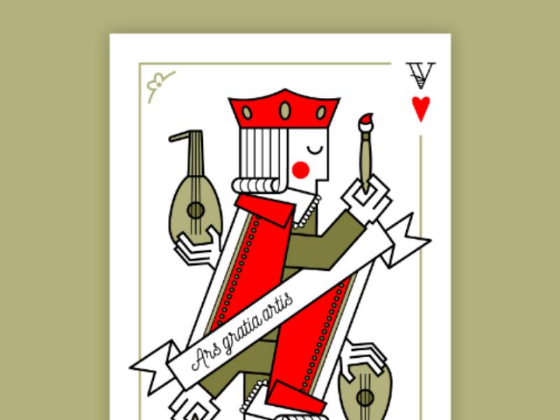 Valet de coeur card illustration vector graphism design