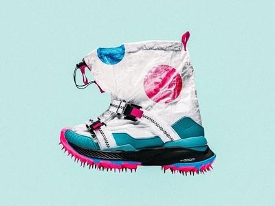 Custom Nike Off White/Mars Yard shoe