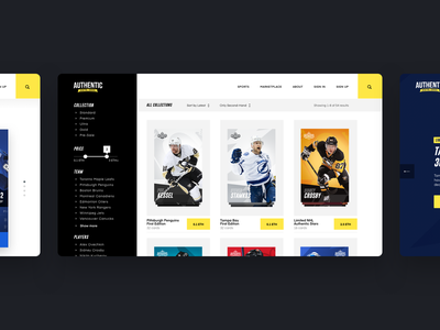 Authentic - Website strv nhl cryptocurrency sport website web hockey cards