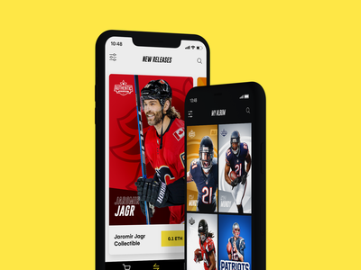 Authentic - Sports app mobile ios card strv play nba nhl nfl cryptocurrency sport cards