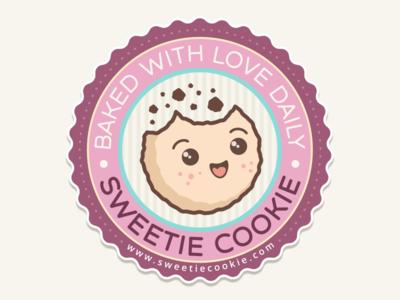 Sweetie Cookie cute carlitoxway logo brand sweet illustration cookies