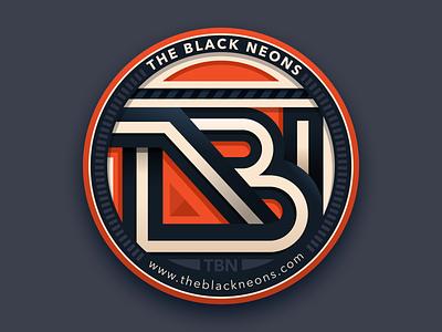 The Black Neons band vector illustration carlosgarcia icon design carlitoxway dark blue orange logo