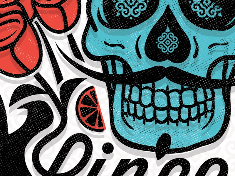Cinco De Dribbble poster illustration cinco de mayo typography type kentucky derby derby beer tequila whiskey skull rose