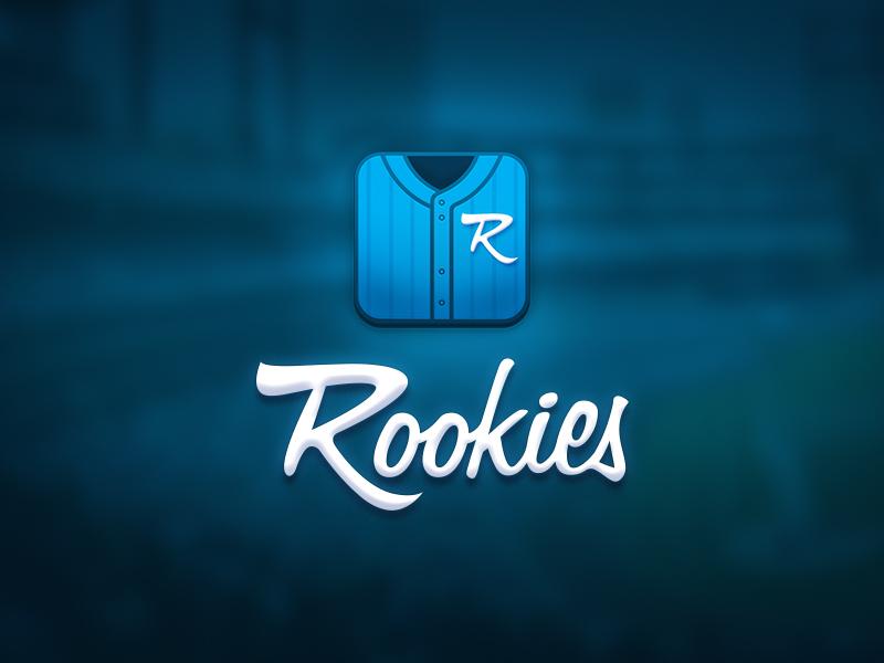 RookiesApp Icon baseball ball bat baseball cards trading cards sports ios app iphone icon app icon rookies rookies app jersey typography type logo mark logo
