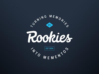 Rookies branding sauce baseball logomark wordmark app branding logo