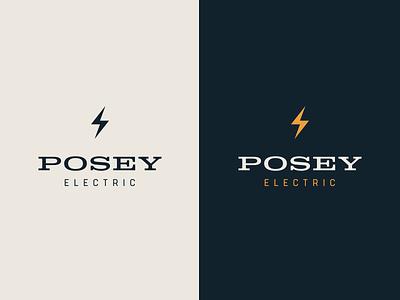Posey Electrical wordmark design branding logomark logo