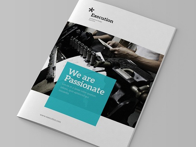 Simple Business Brochure brochure design corporate indesign clean a4 letter size aleo font blue yellow