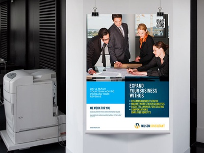 Corporate Poster design poster flyer corporate blue indesign