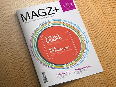 Magz+ Magazine editorial design design indesign magazine magazine template clean corporate typography interior architecture