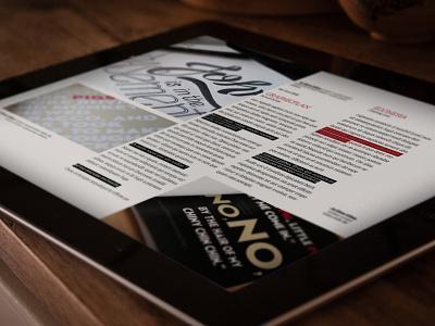 Ipad Magazine editorial design design indesign magazine magazine template clean corporate typography interior architecture