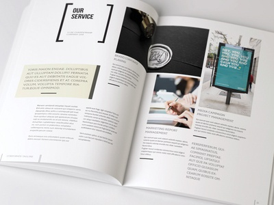 Business Brochure Design indesign design editorial design magazine clean corporate a4 letter