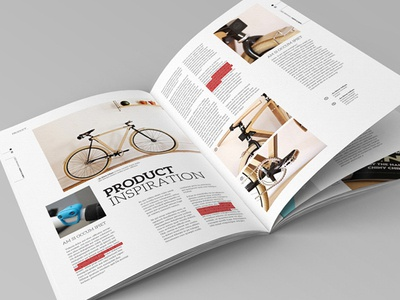 Magazine Layout indesign design editorial design magazine clean corporate a4 letter