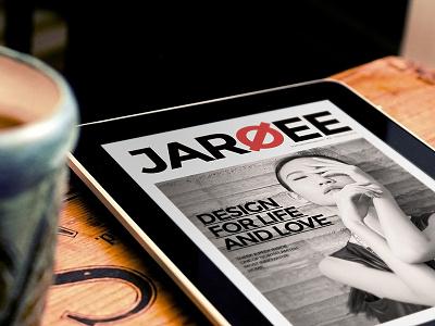 Jaroee Magz indesign design editorial design magazine clean corporate a4 letter ipad web design