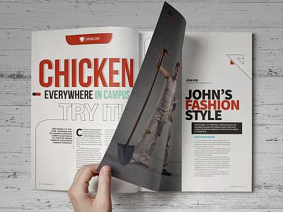 Kimcil Magz indesign design editorial design magazine clean corporate a4 letter ipad web design