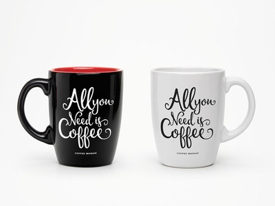 All You Need is Coffee fonts quotes lettering typography