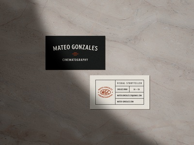 Mateo Gonzales Business Cards