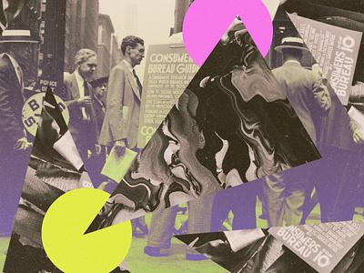 New York psychedelic glitch new york photoshop art web design