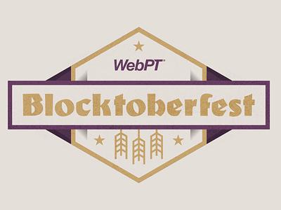 WebPT Blocktoberfest Idea branding illustrator graphic design photoshop art vector illustration web flat design