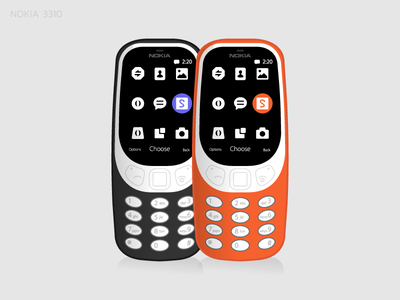 Nokia 3310 minimal art graphic design vector illustration flat web design