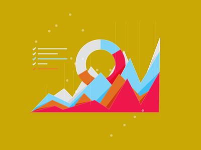 The PT Practices Guide to Turning Bad Metrics Into BetterResults art illustrator minimal graphic design vector illustration flat web design