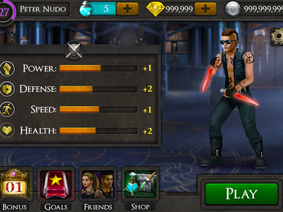 Avatar View mortal instruments interface arcade old potion navigation avatar design iphone mobile ui game