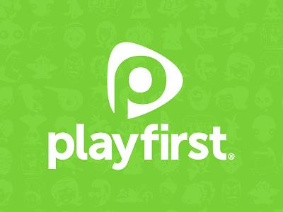 playfirst logo rebranding branding rebrand logo logo design identity mark playfirst games mobile games