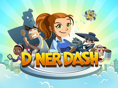 Diner Dash logo diner dash logo splash screen game mobile game game ui game logo