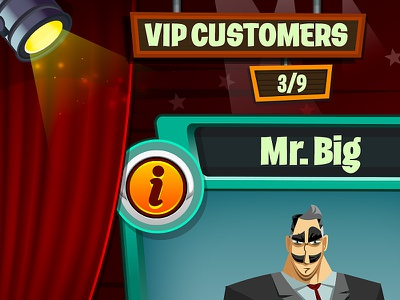 Vip store  vip ui game game mobile ios diner dash