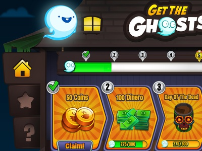 Diner Dash Ghost Event diner dash game mobile game game ui halloween ghost game event
