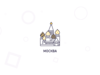 Moscow location icon