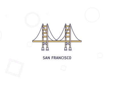 San Francisco location illustration