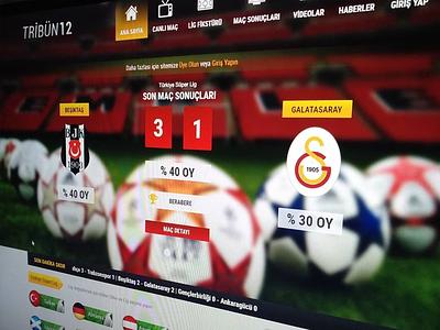Soccer Score Tracker websitedesign design interface inspiration userexperience userinterface besiktas galatasaray bjk gs bet soccer
