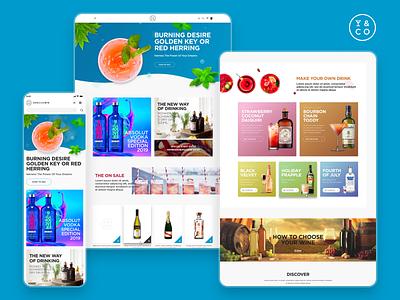 Drinks&Co by Pernod Ricard desktop design ux ui webdesign