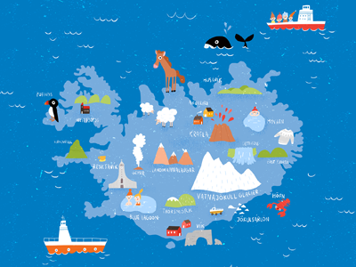 Iceland by Maria Neradova on Dribbble on poland map, mexico map, netherlands map, greece map, united kingdom map, cuba map, europe map, hungary map, scotland map, road map, germany map, japan map, india map, russia map, ireland map, italy map, keflavik airport map, spain map, scandinavia map, greenland map,