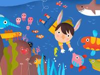 Ocean Swimmer Pinocchio