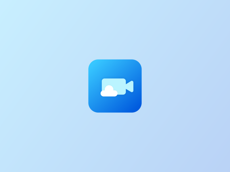 Daily UI - 005 (weather video icon) dailyui 005 005 video weather icon icon dailyui vector ui app logo illustration