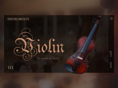 Music Instruments Violin