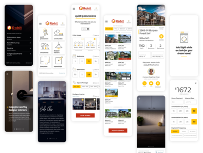 Rohit Mobile figma real estate home builder app web product design ui ux