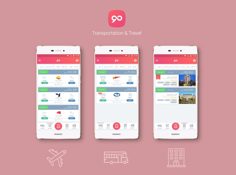 MO ( Transportation and Travel ) App UI/UX