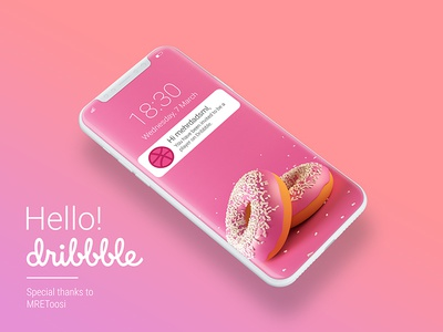 Hello Dribbble persian android ui ux dribbble pink mehrdadsml hello