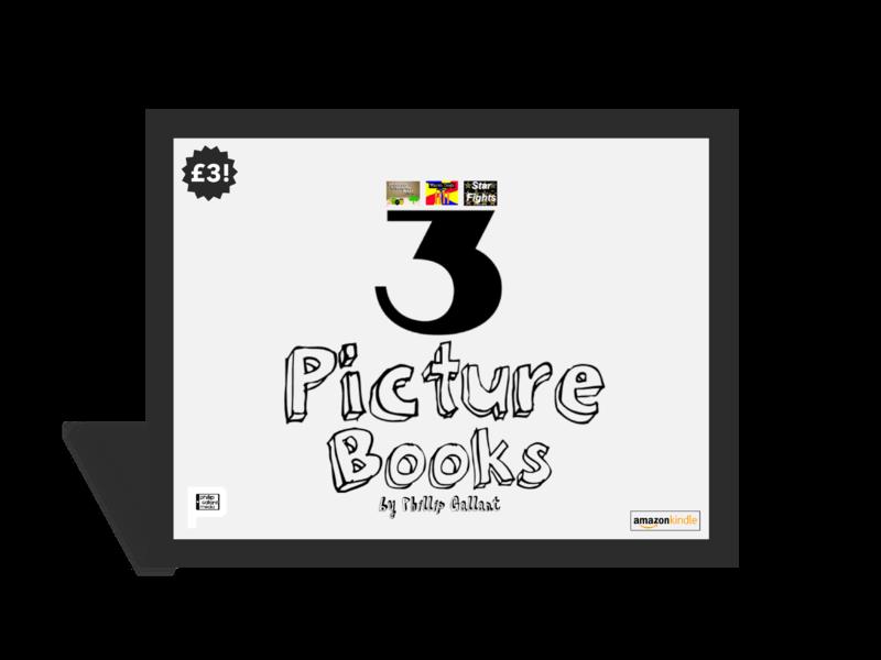 3 Picture Books by Phillip Gallant Promotional Item creator creative direction creative branding posters everyone amazon picture book art direction design phillip gallant