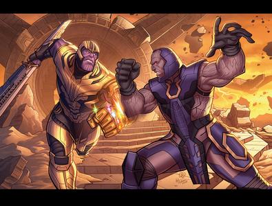 Thanos Vs. Darkseid (Marvel / DC Character Crossover