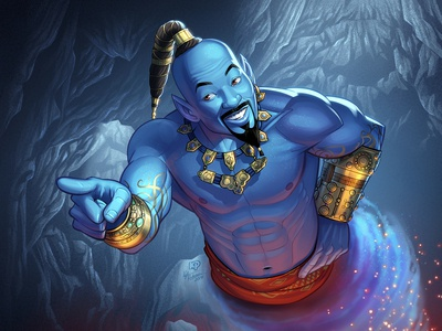 Fan Art of Will Smith as the Genie (Aladdin)