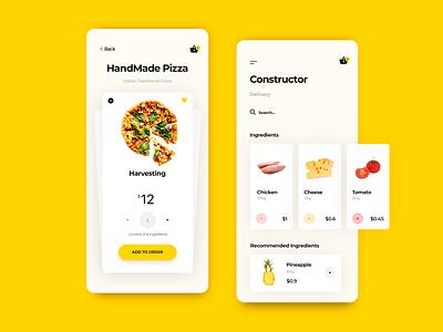 Handmade Pizza graphic web handmade pizza food design list minimal search ux ui delivery illustration icon app