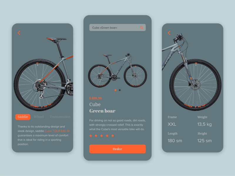Cube Bicycle Sport graphic flat app web ux ui search minimal design