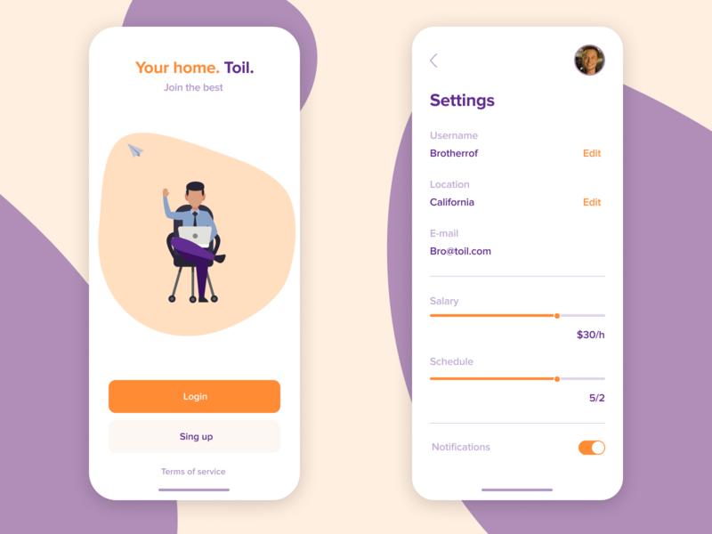 """Toil"" vector minimalist graphics illustration icon graphic list flat app web ux ui search minimal design"