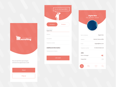 Recruiting vector logo minimalist graphics graphic illustration icon flat app ui ux search minimal design