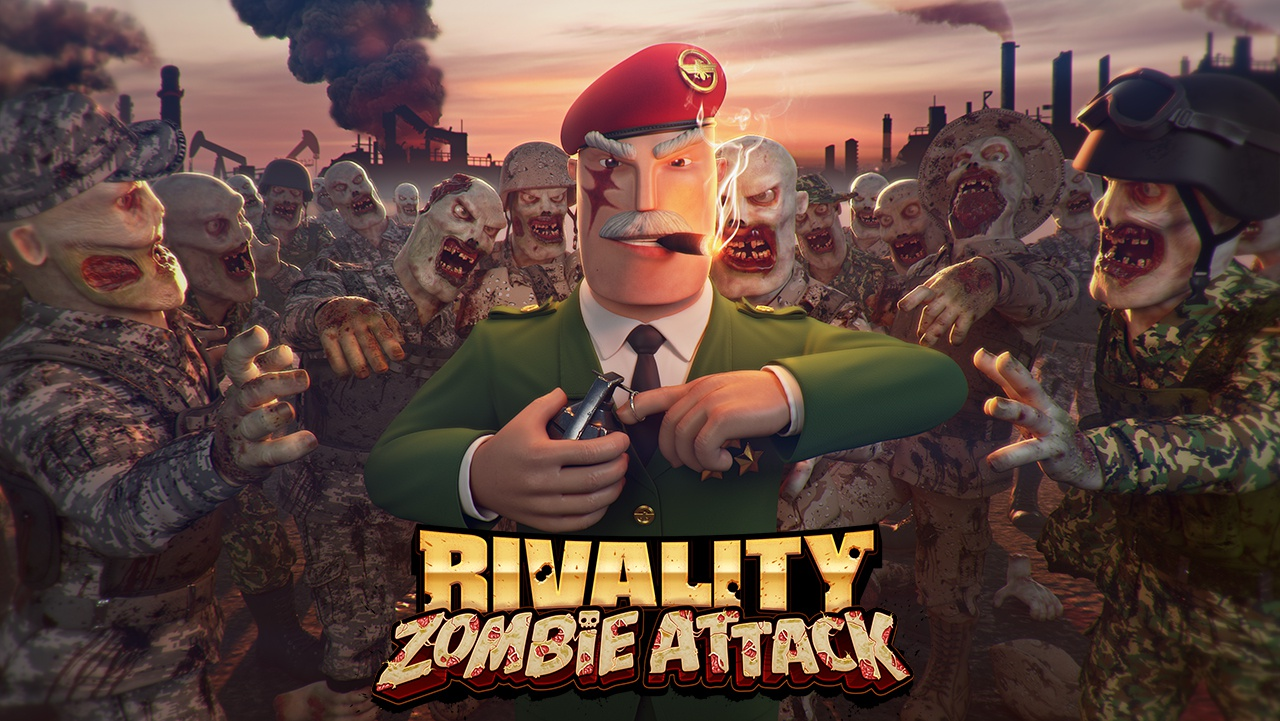 Zombie attack general logo