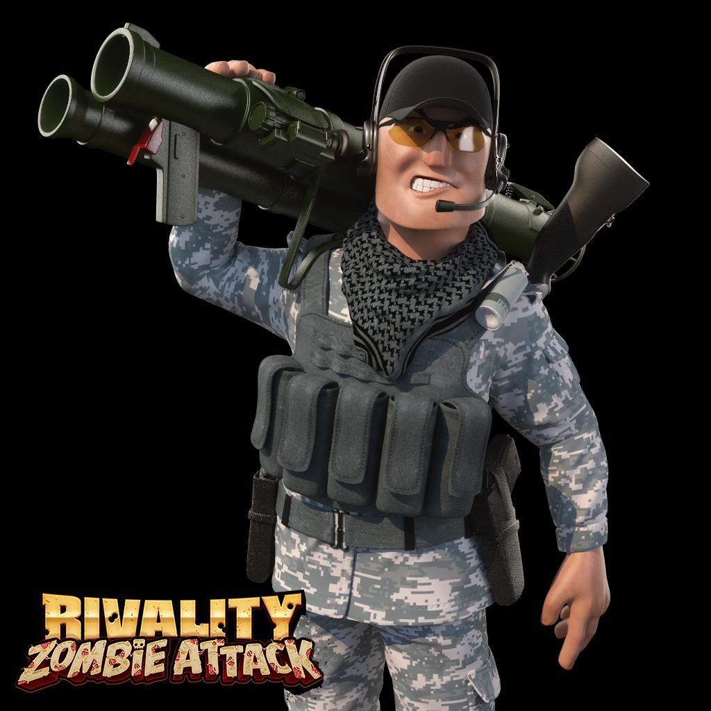 Bazooka soldier 3d artist